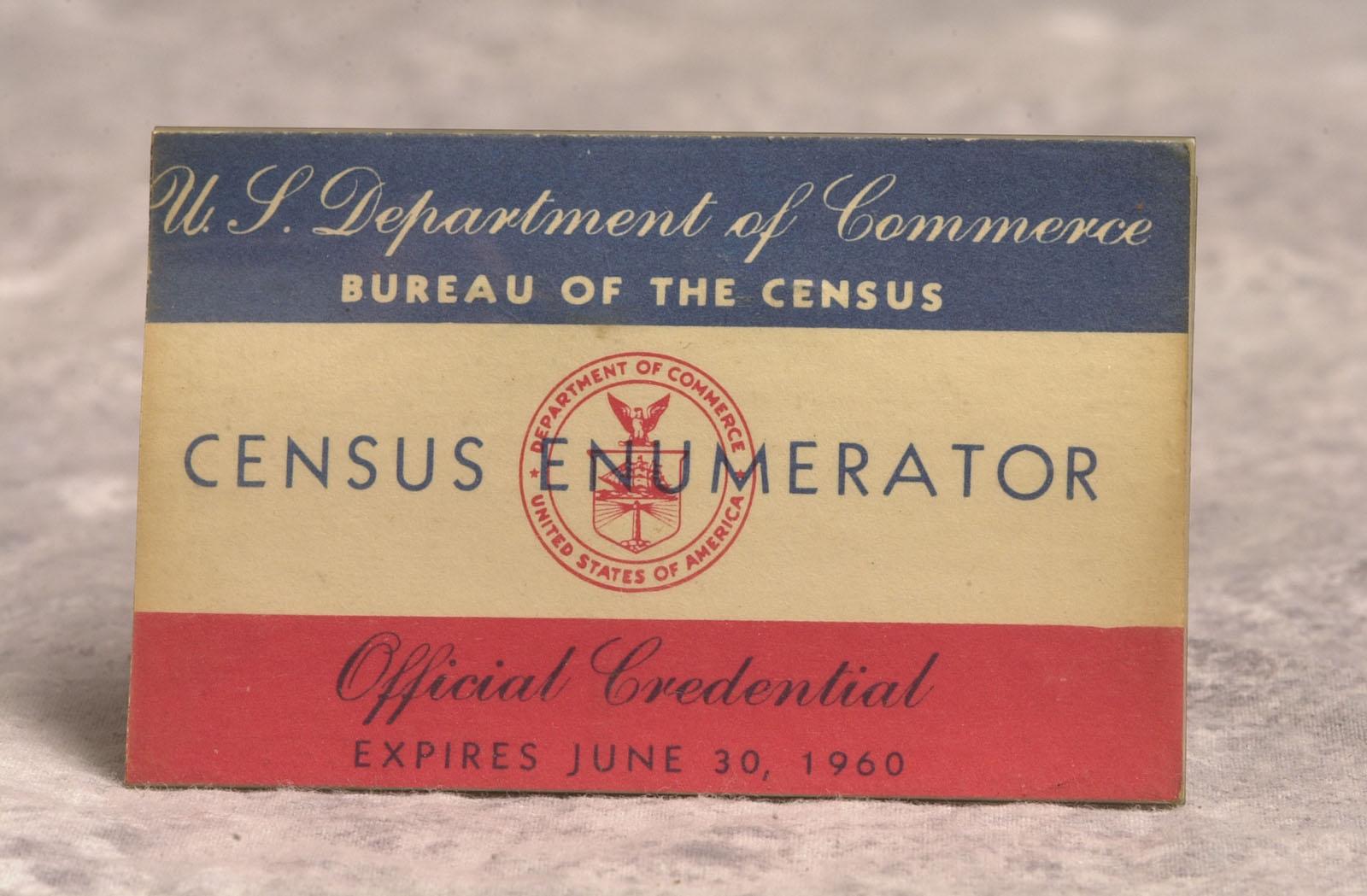 1960 Census enumerator badge